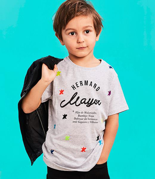 "Camiseta ""Hermano Mayor"" Buenhijo 1"