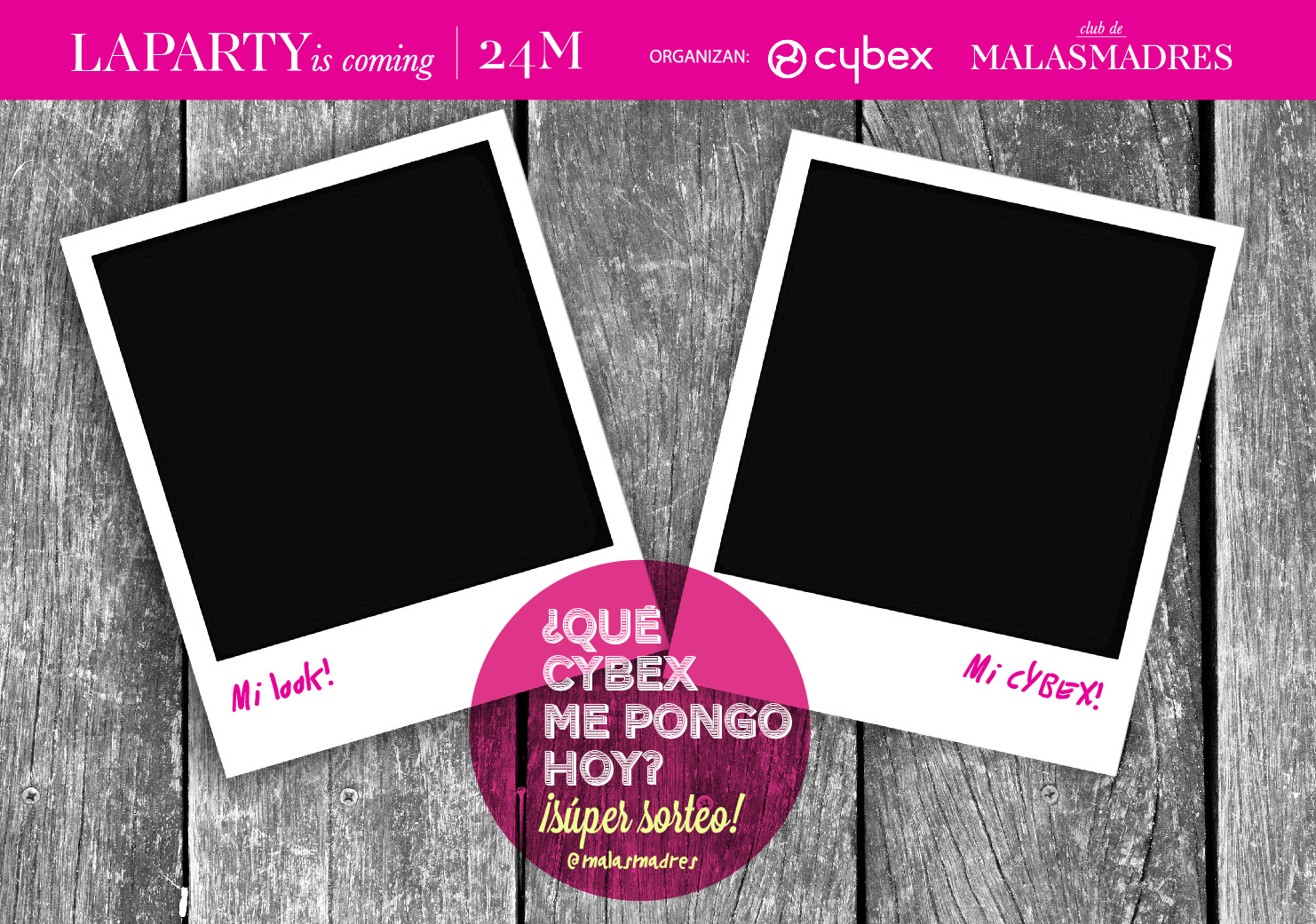 LA PARTY is coming: súper sorteo #queCYBEXmepongo